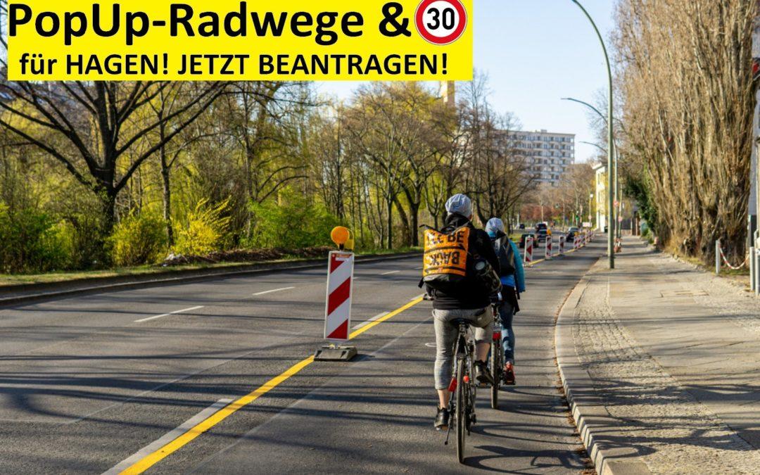 Radinfrastruktur schnell und günstig für Hagen – GEHT DAS?