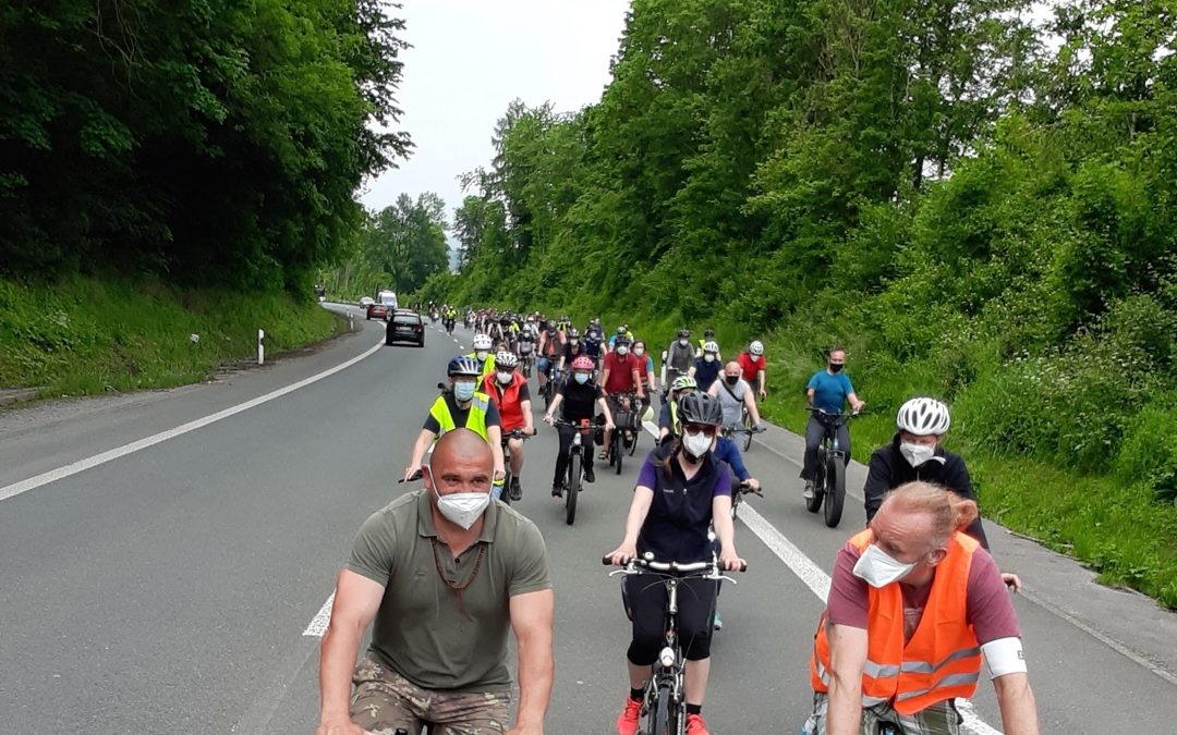 Eine tolle Demonstration für das Radfahren in Hagen!