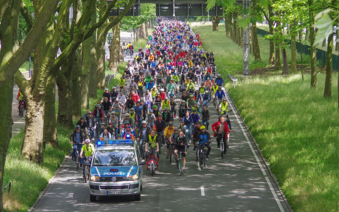 Fahrradsternfahrt.Ruhr